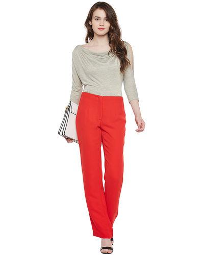 Venetian Red Straight Pants
