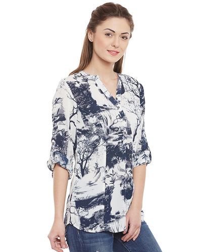 Blue Forest Canvas Top