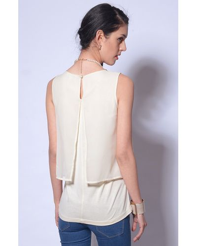 White Layered Party Top