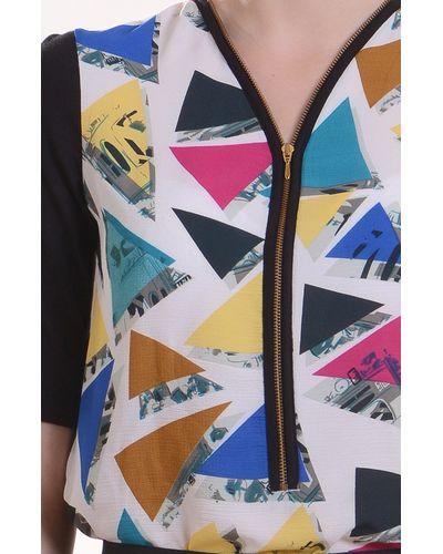 Classic Geometrical Zipper Top