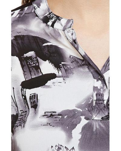 Monochrome Floral Print Top