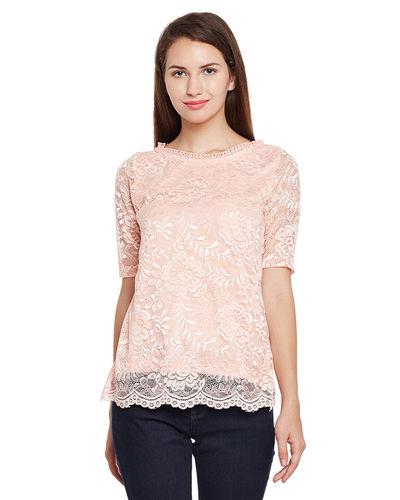 Powder Pink Lace Top