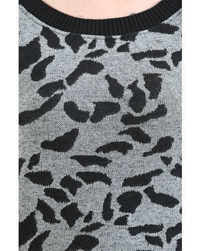 Boat Neck Animal Print Sweater