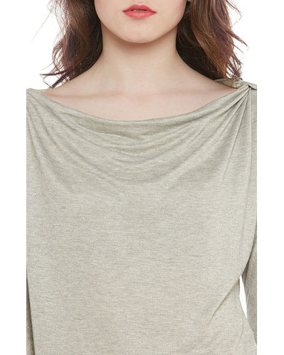 Greysome Shoulder Slit Top