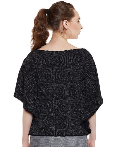 Noir Batwing Sleeves Top