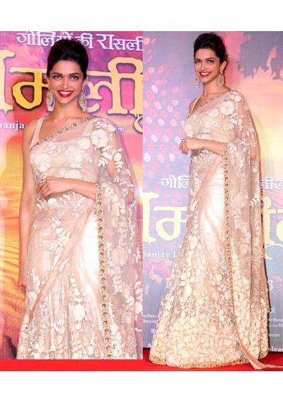 Deepika Padikone Ramleela Saree