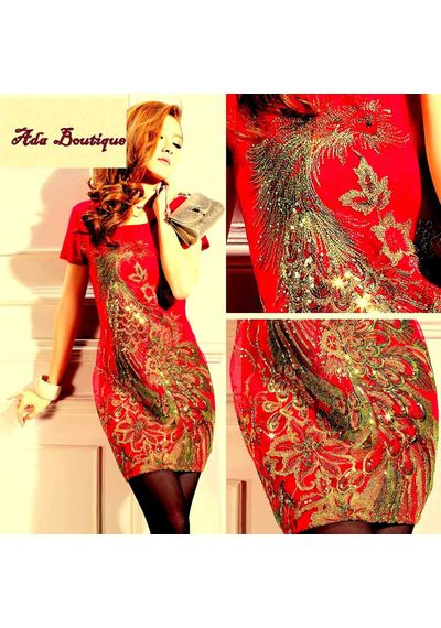 Exclusive Red Embroidered Top