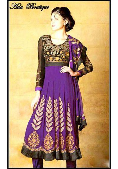 Stylish Purple /Black Anarkali