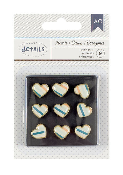 Push Pins - Stripe Heart