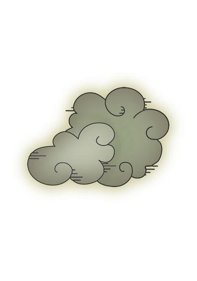 Clouds - Mini Stamp