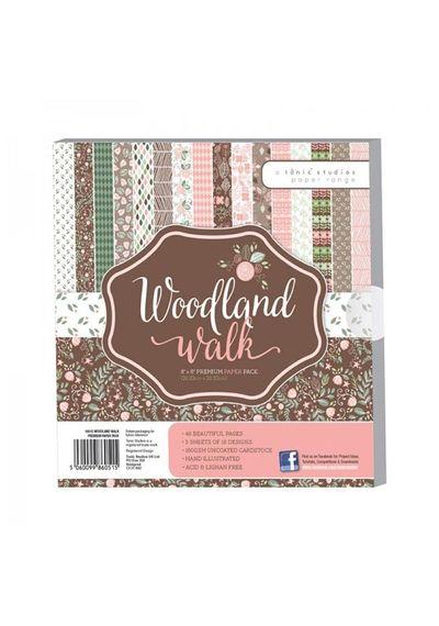 "Woodland Walks Premium Paper Pack 8"" x 8"""