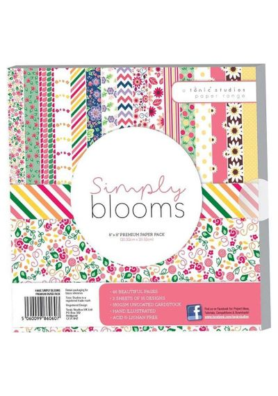 "Simply Bloom Paper Pack 8"" x 8"""