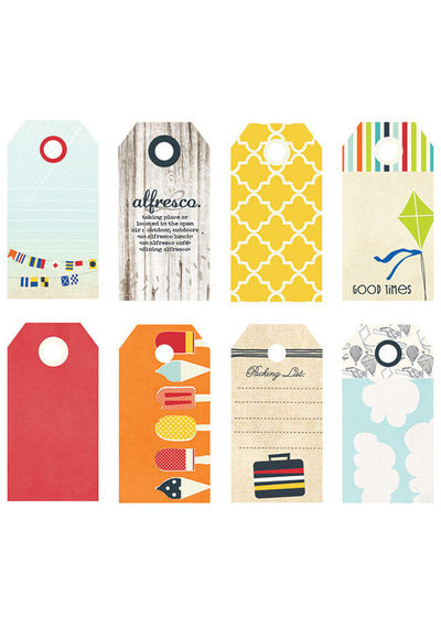 Nautical Small Decorative Tags - 8/Pkg