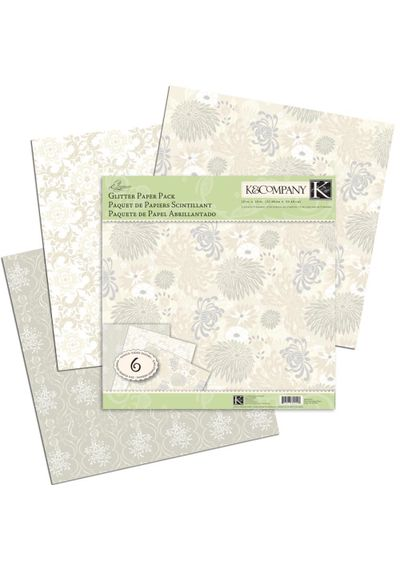 "Elegance Glitter Paper Pack 12""X12"" 6 Sheets/Pack"
