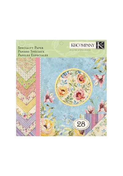 Watercolor Bouquet Collection - 12 x 12 Specialty Paper Pad