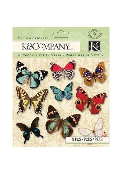 BP Butterfly Vellum Stickers