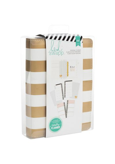 Gold Foil Stripe Personal Memory Planner