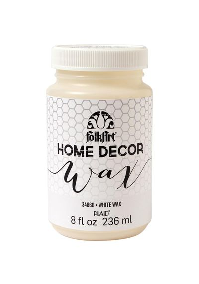 White - FolkArt Home Decor Wax Sealer 8oz