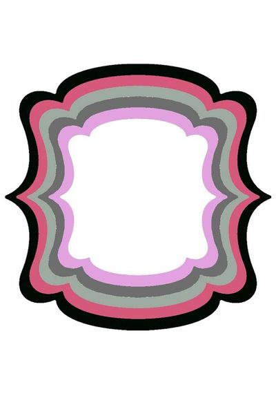 XXL Square Frame Frilly #3