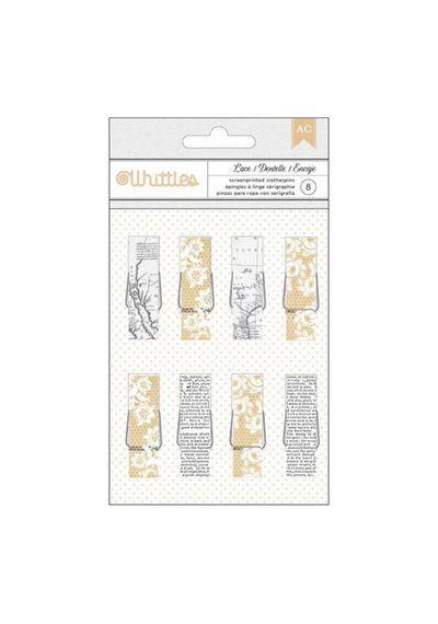 Newsprint & Lace - Whittles Clothespins 8/Pkg