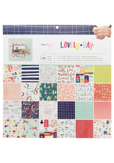 "Dear Lizzy Lovely Day - 12""X12"" Paper Pad"