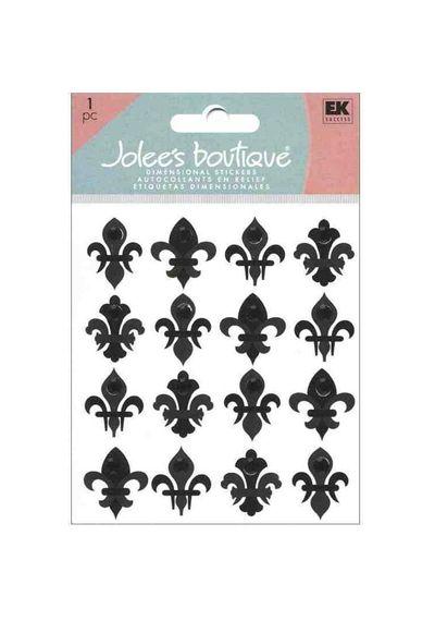 Black Fleur Di Lis Stickers