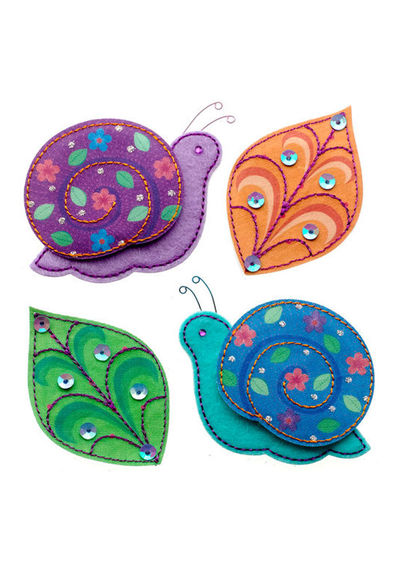 Colorful Snails Stickers