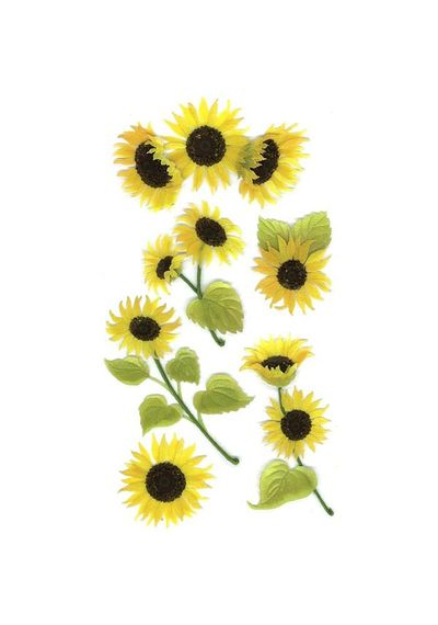 Sunny Sunflowers Stickers