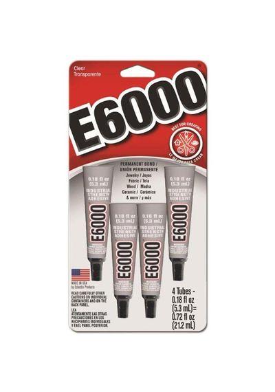 E6000 Multi-Purpose Adhesive 4/Pkg 0.18oz