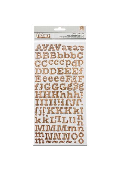 Memo - Burlap -Thickers Printed Chipboard Stickers
