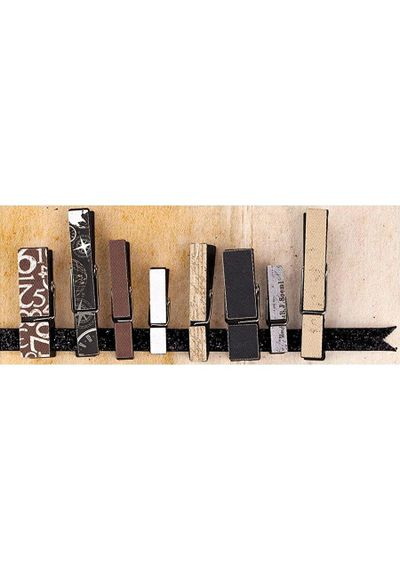 Engraver Collection - Canvas Covered Wood Clips