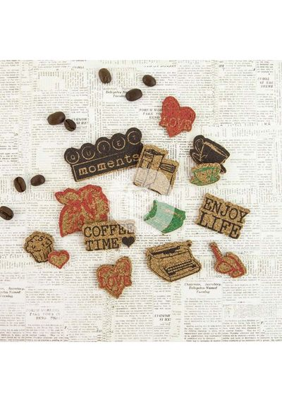 Coffee Break Cork Stickers 14/Pkg