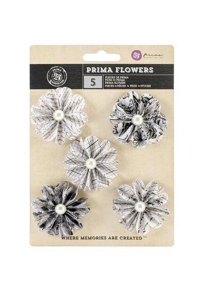 "Domino 2"" - Vellum Flowers, 5/Pkg"