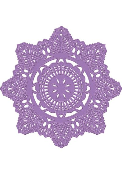 Crochet Doily - Purple Metal Die