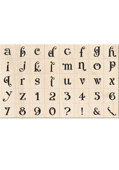 Gemstone Lower Case Alphabet - Stamp