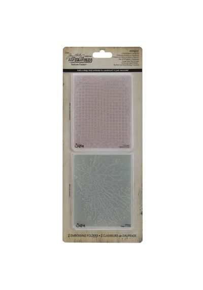 Checkerboard & Cracked - Embossing Folder