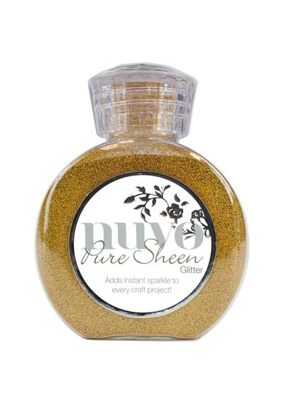 Gold-Nuvo Pure Sheen Glitter 3.38oz