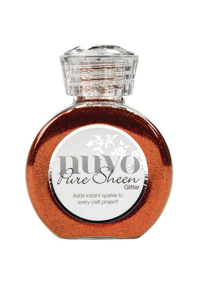 Scarlet Red-Nuvo Pure Sheen Glitter 3.38oz