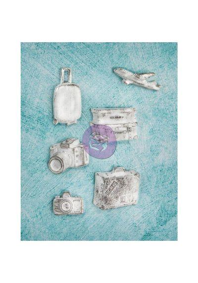 Explore 6/Pkg - Resin Embellishments
