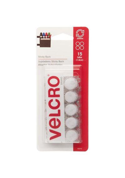 White Velcro - Self Adhesive Coins