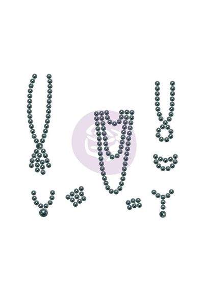 Black - Say It In Pearls Embellishments