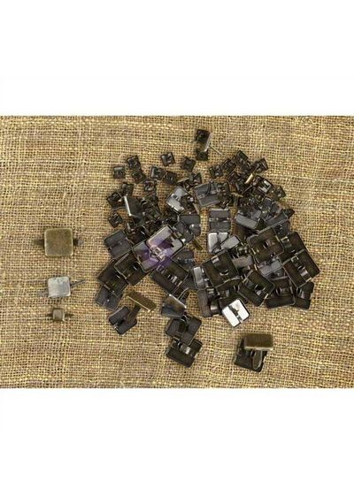 Square Brads 100/Pkg - Mechanicals Metal Embellishments