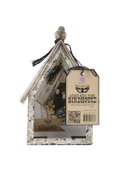 Bird House - Altered Metal Frame 3.5 X7 X9.75
