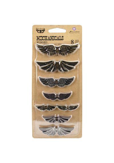 Winged 8/Pkg - Metal Embellishments