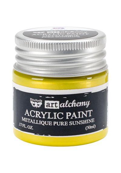 Metallique Pure Sunshine - Acrylic Paint 1.7 oz