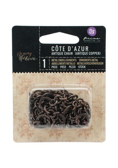 Memory Hardware Chain - Cote d'Azur Rope/Antique Bronze