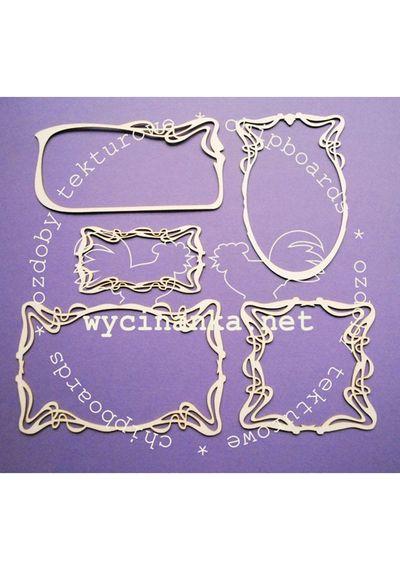 Art Nouveau - Five Frames Set