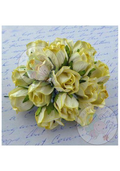Yellow - Big Rose Buds