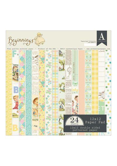 "Beginnings - 12""X12"" Paper Pad 24/Pkg"