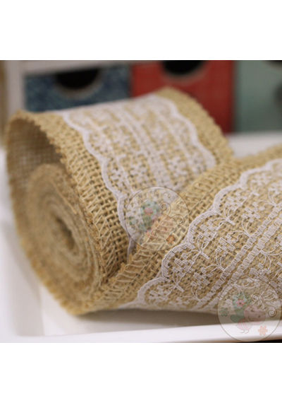 Broad Jute Roll with Centre Lace